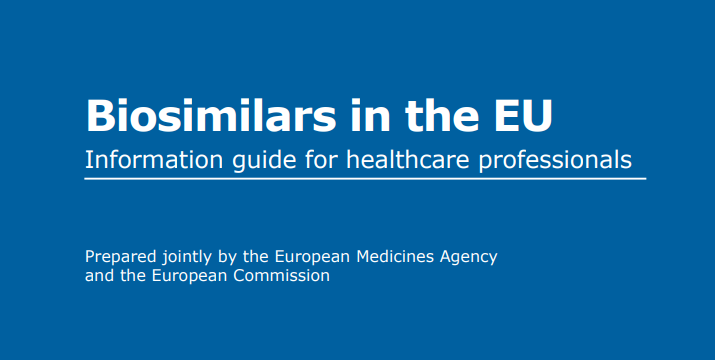 EMA Information Guide on Biosimilars for healthcare professionals